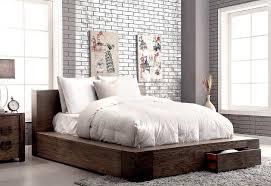 Low profile Bed in Rustic Finish FA29