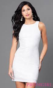 short white glitter mini dress promgirl