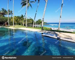 100 Bali Infinity Pool Palm Trees Indian Ocean Indonesia Resort
