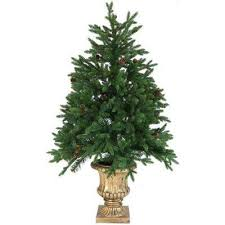 48 Ft Noble Fir Artificial Tree With Metallic Urn Base And Battery Operated Multi
