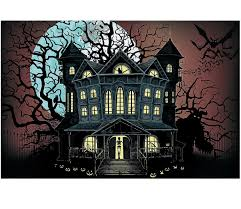 Halloween Scene Setters by Amazon Com Haunted House Backdrop Banner 3 Piece Set 9 Ft X 6