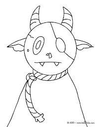 Living Dead Little Monster Coloring Page Color Online Print