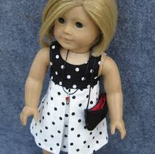 Rever De Paris Black And White Dress For American Girl By Bluesews