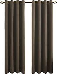 floweroom blickdichte gardinen verdunkelungsvorhang lichtundurchlässige vorhang mit ösen für schlafzimmer geräuschreduzierung taupe 245x140cm hxb