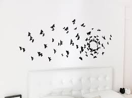 Gossip Girl Wall Art Black Butterfly Decor 3D
