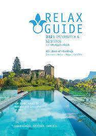 relax guide österreich südtirol 2021 by werner medien gmbh