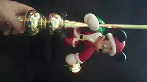 Tinkerbell Light Up Christmas Tree Topper by Mr Christmas Mickey Tree Topper On Ebay For Sale Youtube