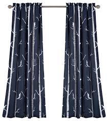 Lush Decor Window Curtains by Bird On The Tree Room Darkening Window Curtain Contemporary
