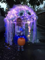 diy jellyfish kid costume kids clear umbrella battery operated led