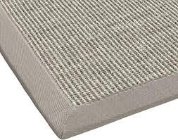 bodenmeister sisal teppich modern hochwertige bordüre flachgewebe verschiedene farben und größen variante beige hell grau 200x290