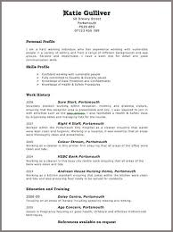 Resume Examples Uk Pinterest Job Format Curriculum Vitae References