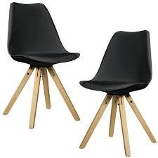 chaises rembourr es en casa 2x chaises de salle a manger noir rembourré salle à manger