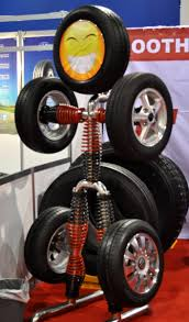 Clever Tire And Rim Display At SEMA
