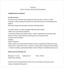 Free Resume For Administrative Assistant Word Download