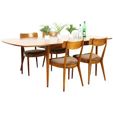 Midcentury Modern 1960's Vintage Dining Set, Table, Leaf, 4 Chairs ... 1960s Ding Room Table Chairs Places Set For Four Fringed Stanley Fniture Ding Chairs By Paul Browning Set Of 6 For Proper Old Room Tempting Large Chair Pads As Well Broyhill Newly Restored Vintage Aptdeco Four Rosewood Domino Stildomus Italy Ercol Ding Room Table And 4 Chairs In Cgleton Cheshire Teak Table Greaves Thomas Mid Century Duck Egg Green Bernhardt Modern Walnut Brass Lantern Antiques Niels Otto Mller Two Model No 85 Teak