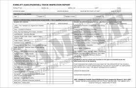 100 Powered Industrial Truck Training Forklift Preshift Inspection Checklist GasLPGDiesel Forklift