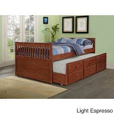 donco kids mission captains full bed with twin trundle free