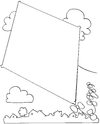 High Resolution Coloring Pages Of Kites At None Decorative Kite Page Free Printable