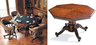 Game Table Chairs With Casters Game Table Chairs With Game Cum