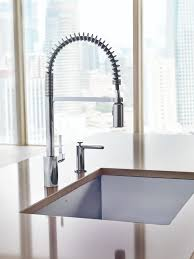 Used Commercial Pre Rinse Faucet by New Align Pre Rinse Spring Kitchen Faucet From Moen Combines