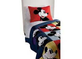 Mickey Mouse Bedding Twin by Color Block Mickey Quilt And Sham Quilts