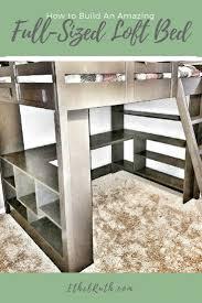 full size loft bed plans vnproweb decoration
