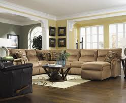 Brown Leather Couch Living Room Ideas by Macys Sectional Couch Montague Leather Sectional Living Room By