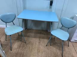 Mid Century 1950s Blue Table With 2 Chairs   In Kirkintilloch, Glasgow ... Greek Style Blue Table And Chairs Kos Dodecanese Islands Shabby Chic Kitchen Table Chairs Blue Ding Http Outdoor Restaurant With And Yellow Crete Stock Photos 24x48 Activity Set Yuycx00132recttblueegg Shop The Pagosa Springs Patio Collection On Lowescom Tables Amusing Ding Set 7 Piece 4 Kids Playset Intraspace Little Tikes Bright N Bold Free Shipping Balcony High Cushions Fniture Rst Brands Sol 3piece Bistro Setopbs3solbl The