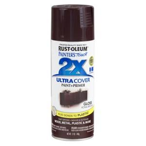 Rust-Oleum Painter's Touch 249102 2x Ultra Cover Spray Paint, 12 oz, Kona Brown