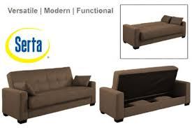 Serta Dream Convertible Sofa by Napa Contemporary Sleeper Futon Bed Brown Sleeper Sofa The