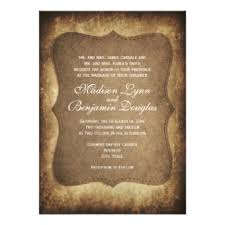 Rustic Country Vintage Paper Wedding Invitations Personalized Invite