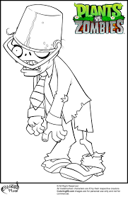 Free Printable Plants Vs Zombies Coloring Pages For Kids Holden