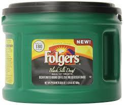 Folgers Decaf Black Silk Dark Roast Ground Coffee 206 Ounce
