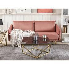 couchtisch schwarz mdf marmor optik quadratisch 80x80 cm mit goldenem metallgestell modern stil sofatisch wohnzimmer salon möbel