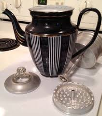 Vintage CoffeeMatic Percolator 1950s Coffee Pot Chrome