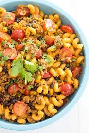 Cold Taco Pasta Salad With Ground Beef And Catalina Dressing