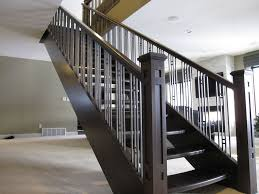 Interior Stair Railings Design — John Robinson House Decor ... Wrought Iron Railing To Give Your Stairs Unique Look Tile Glamorous Banister Railings Outdbanisterrailings Astounding Metal Unngmetalbanisterwrought Deckorail 6 Ft Redwood Rail Stair Kit With Black Alinum Banister Interior Kits And Kitchen Design Glass Staircase Railings Types Designs Modern Lowes Spindles Indoor Ideas Decorations Interior Kit Lawrahetcom Model Remarkable Picture