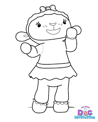 Lambie The Lamb Doc McStuffins Coloring Pages