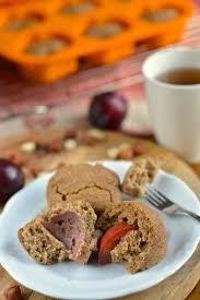 Vegan Pumpkin Muffins Applesauce by Autumn Flavoured Plum Cardamom Muffins