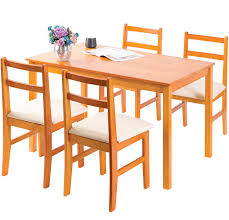 Merax 5pc Dinning Dinette 4 Person Table And Chairs Set Soild Pine Wood  Dining Kitchen, Natural Robin 5 Piece Solid Wood Ding Set Nice Table In Natural Pine With 4 Chairs Round Drop Leaf Collection Arizona Chairs In Spennymoor County Durham Gumtree Wooden One 4pcslot Chair White Hot Sale Room Sets From Fniture On Aliexpresscom Aliba Omni Home 2019 Table Merax 5pc Dning Dinette Person And Soild Kitchen Recycled Baltic Timber Tables With Steel Base Bespoke Hardwood Casual Bisque Finish The Gray Barn Broken Bison Antique Bradleys Etc Utah Rustic How To Refinish A Its Actually Extremely Easy