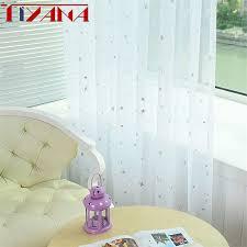shine kinder weiß vorhang tüll für wohnzimmer küche blau rosa garn vorhänge für schlafzimmer grün cortina wp234 20