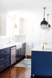 A Two Toned Blue And White Kitchen Remodel
