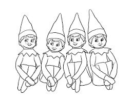 Santa Superb Elf On The Shelf Coloring Page Elves
