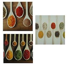 cadre cuisine toilemania lot de 3 toiles décoratives cadre tableau peinture