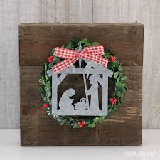 Wood Plank Christmas Nativity Decoration 17turtles