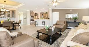 Interior View Of Manufactured Home Open Floor Plan