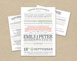 Modern Wedding Invitations Templates Invitation Template Pink Green Simple Custom Download
