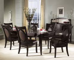 Dining Table Set Black Leather Chairs Dinette With Simple Room Furniture