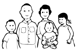 Primary Family Clipart Black And White 24 For Your Clipart For