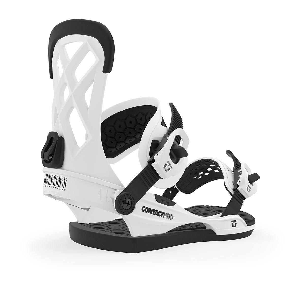 Union Contact Pro Snowboard Bindings - White